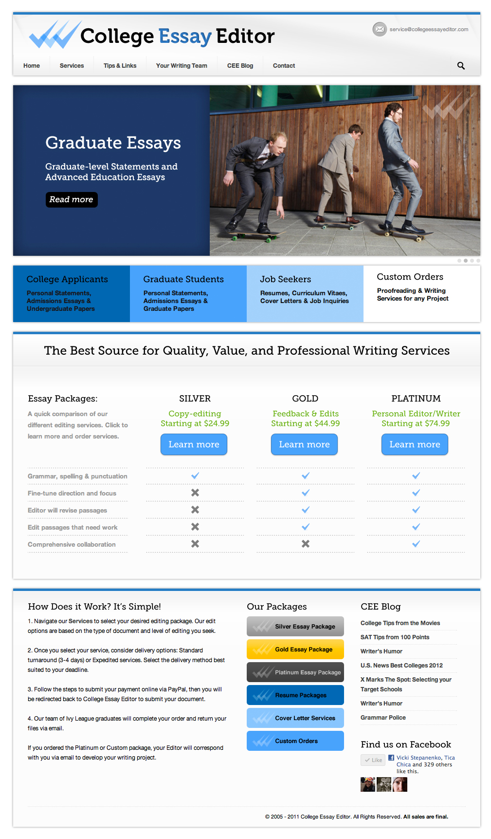 Online essay editing services