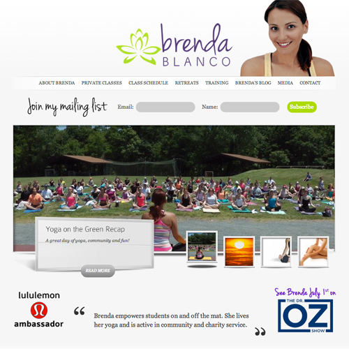 Yoga Instructor WordPress Website