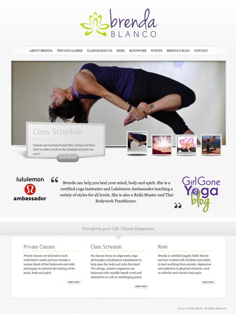 Yoga Instructor WordPress Website