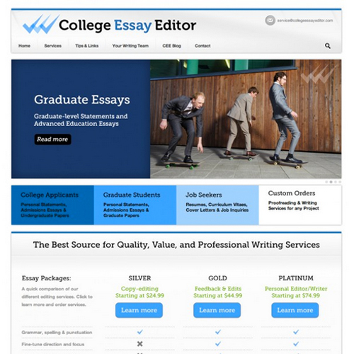 College Services Website WordPress