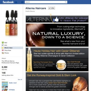 Custom Facebook Tab Haircare