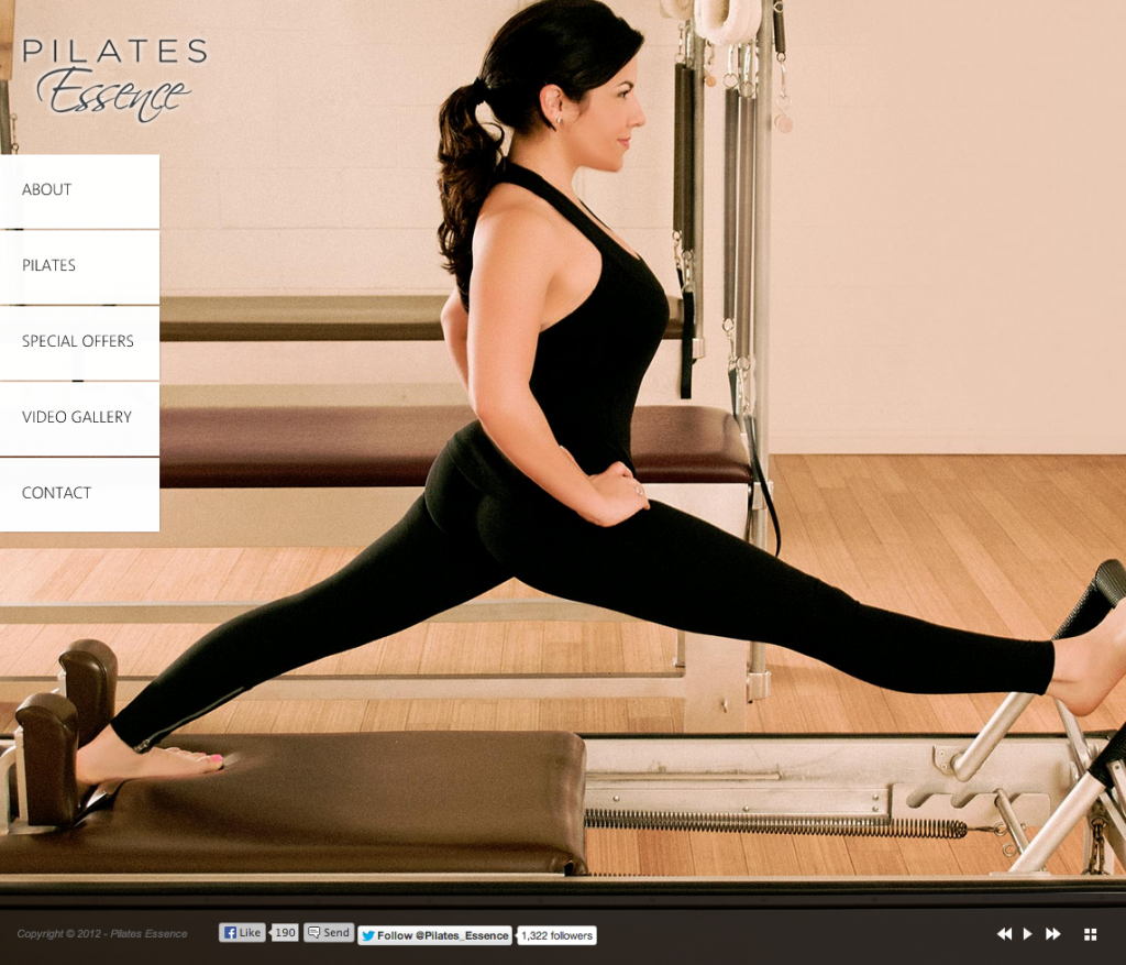 WordPress Website for Pilates Studio