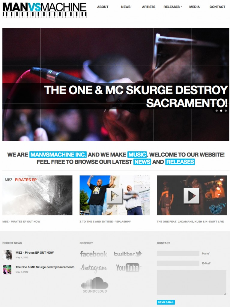 Record Label WordPress Website