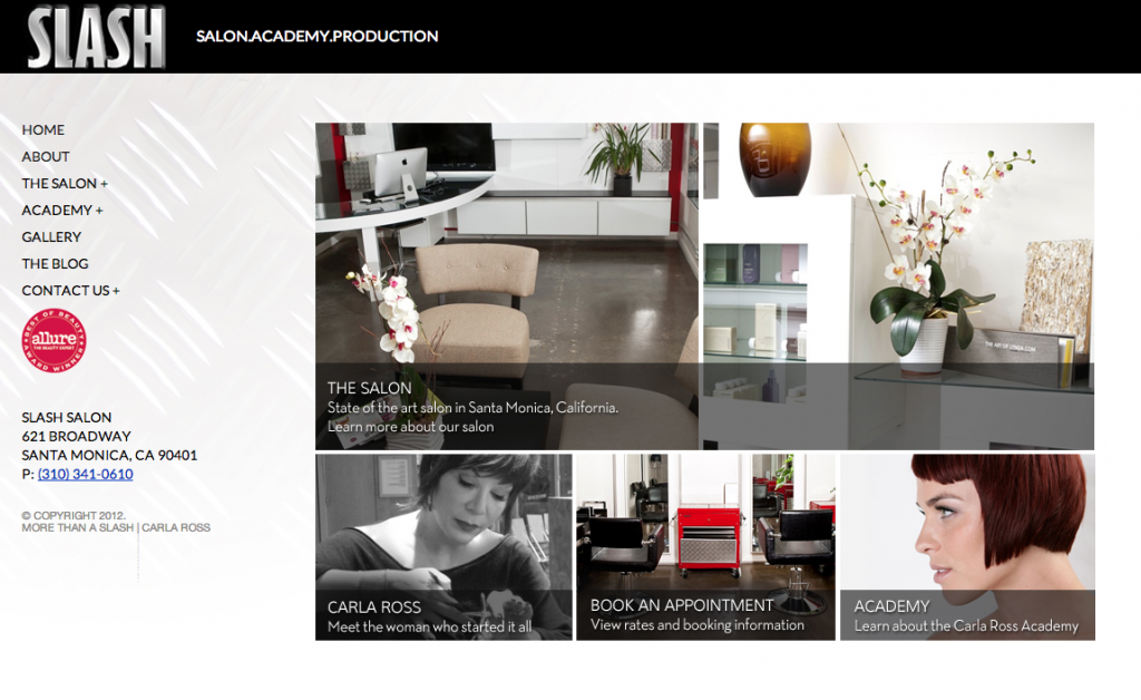 Salon WordPress Website