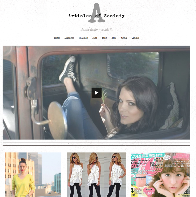 Denim Company WordPress Website