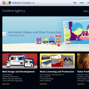 Media Company Portfolio Website