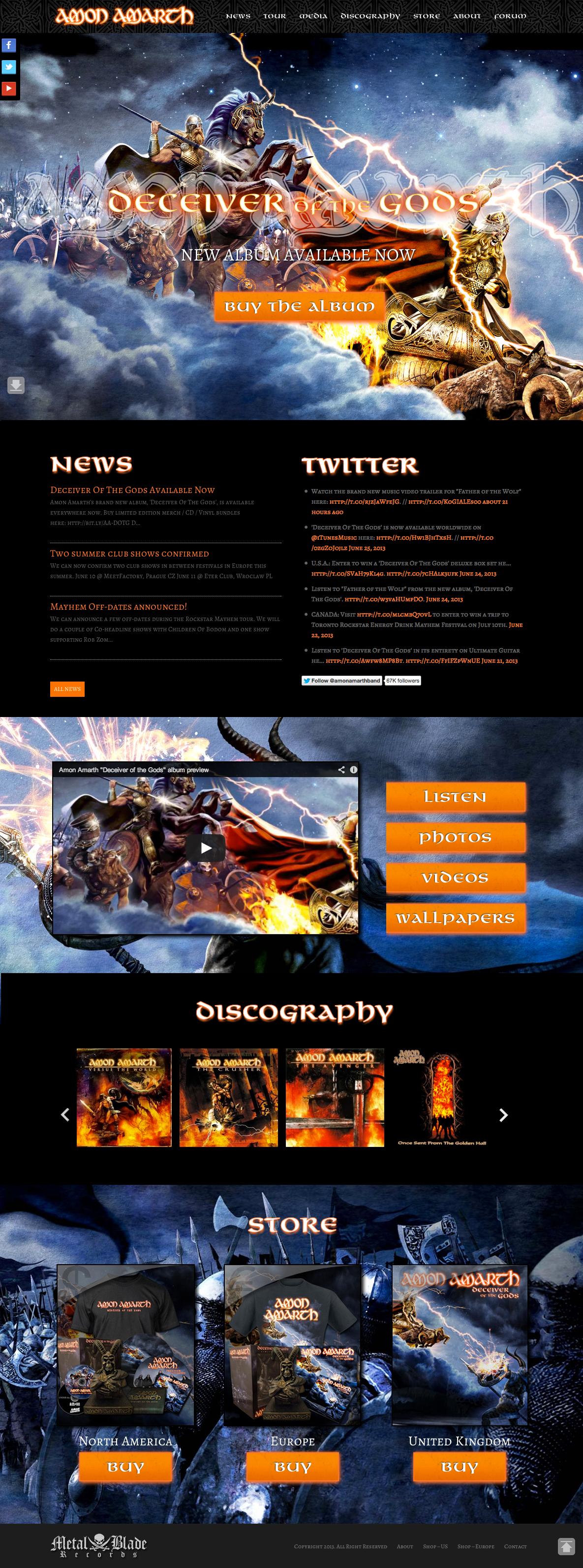 Responsive Parallax Metal Artist Website