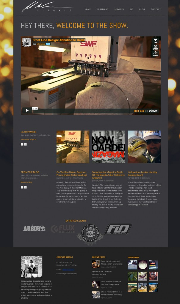 Video Portfolio WordPress Website