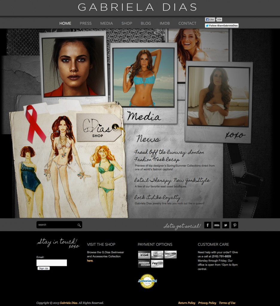 Swimwear WordPress Shop Website