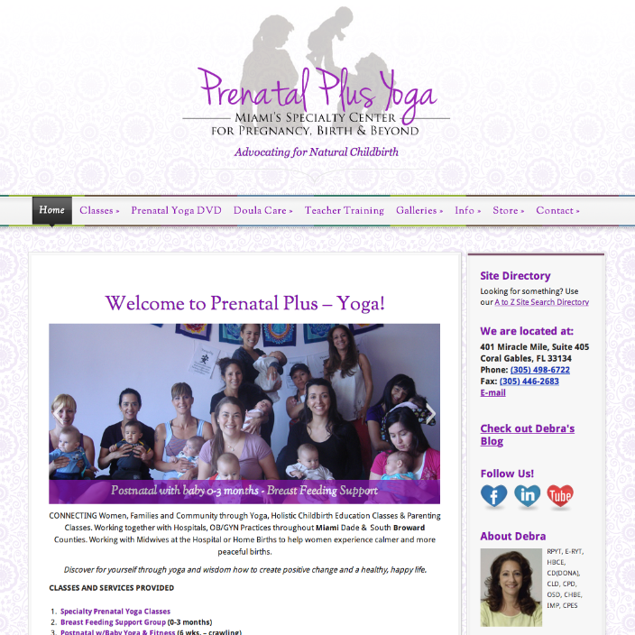 Prenatal Yoga Website and Class Registration on WordPress