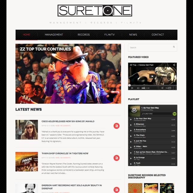 Artist Management Website