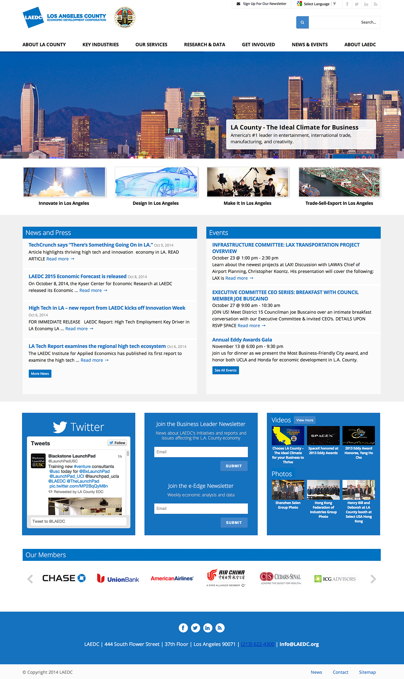 Economic Development Corporation WordPress Website