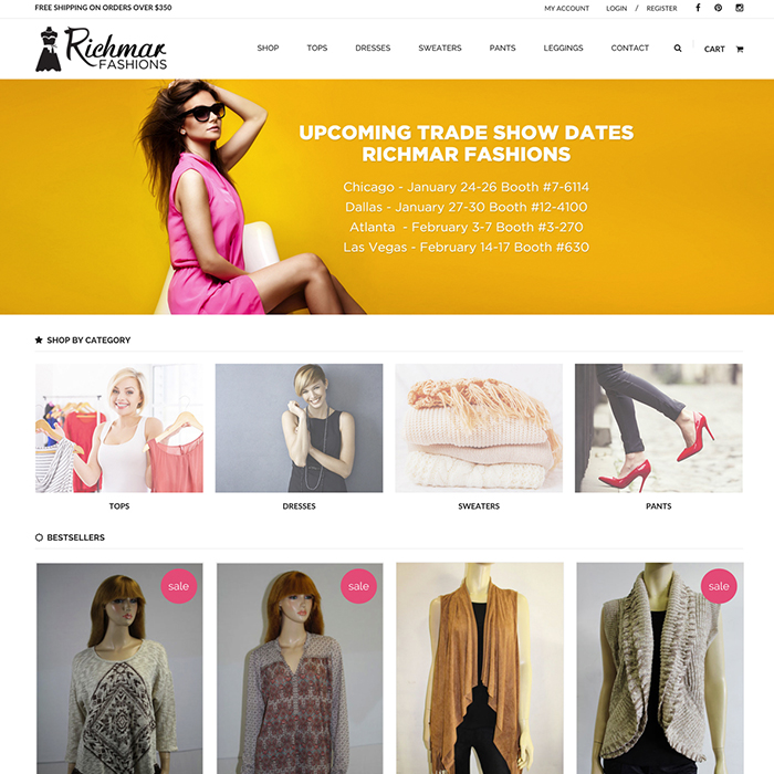 Shopify Wholesale Fashion E-Commerce Website