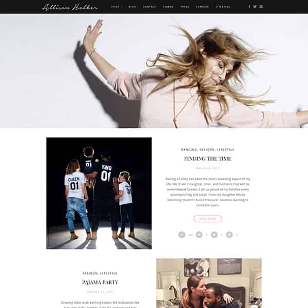 Celebrity Lifestyle WordPress Blog