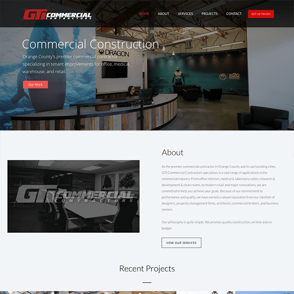 General Contractor Responsive WordPress Website