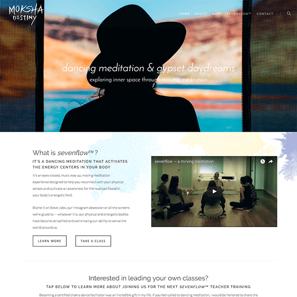 Meditation Instructor WordPress Website / E-Course