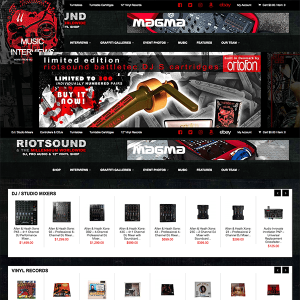 Hip Hop E-Commerce WordPress Website