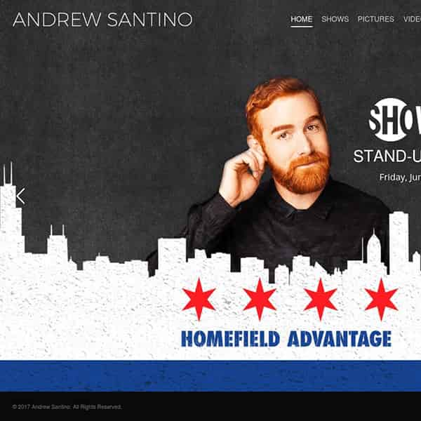 Actor/Comedian WordPress Website