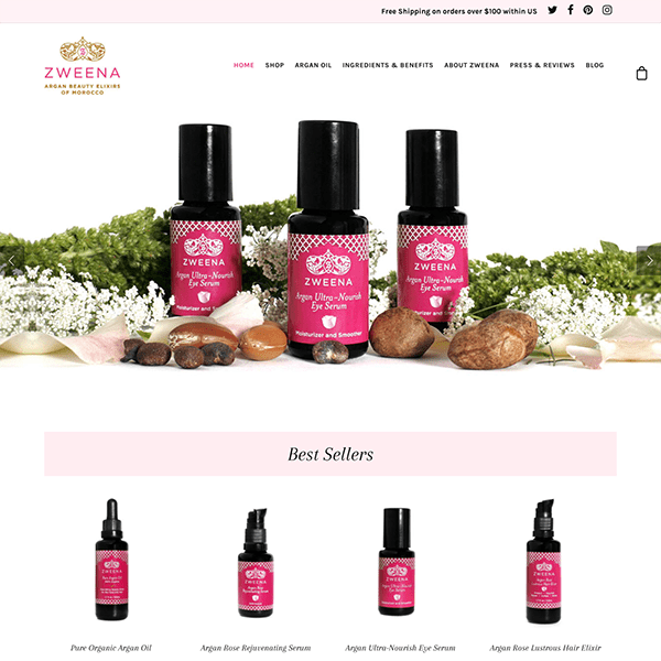 Beauty Products WordPress E-Commerce