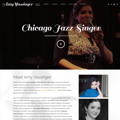 Jazz Singer WordPress Website