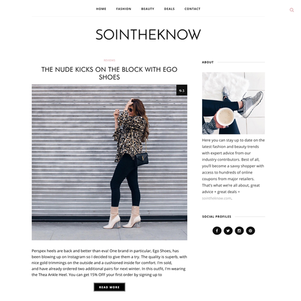 WordPress Fashion Blog and FMTC Coupon Search